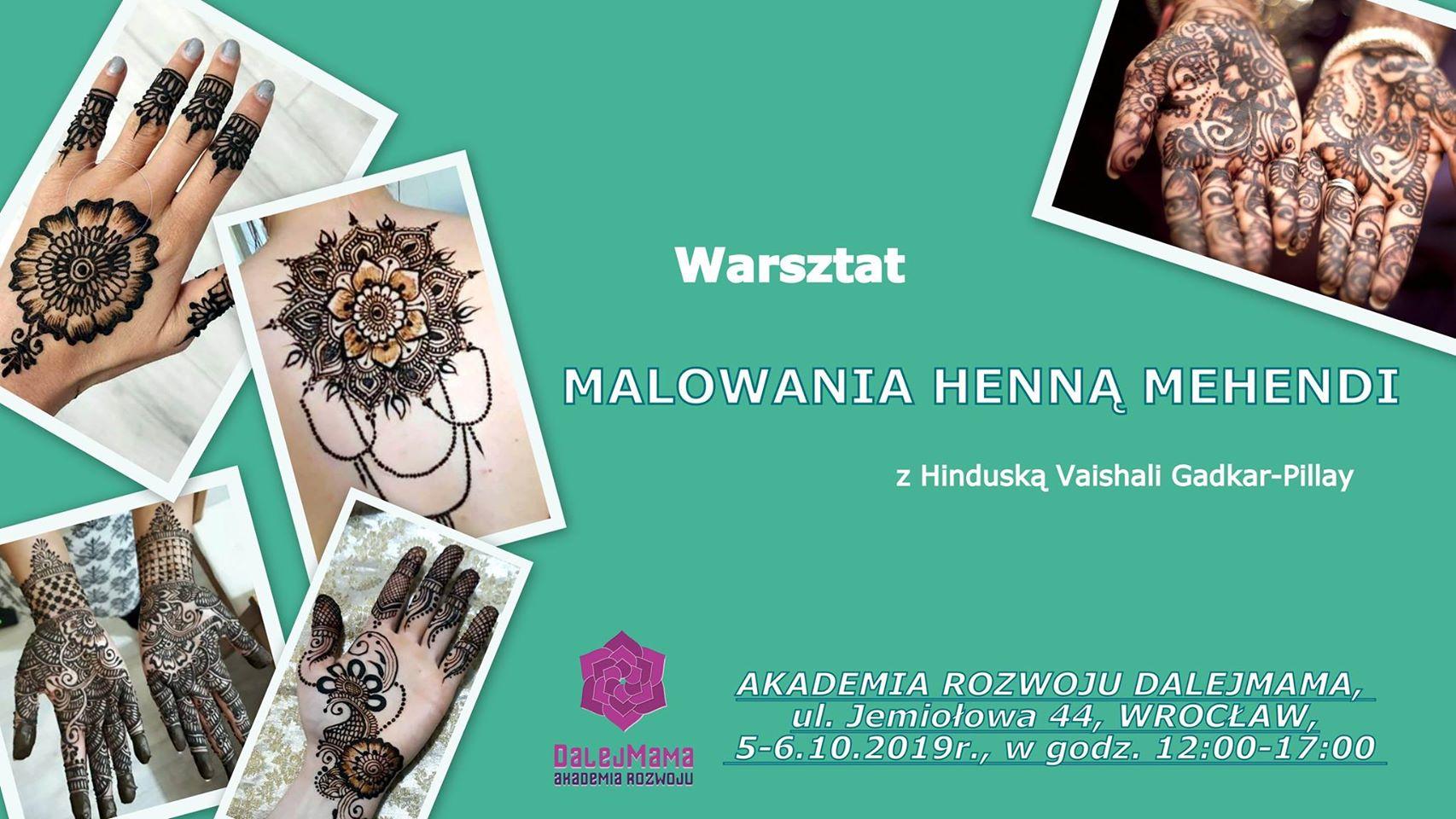Warsztat Malowania Henną Mehendi Z Vaishali Gadkar Pillay